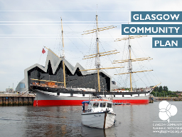 Glasgow Community Plan - Cover Page